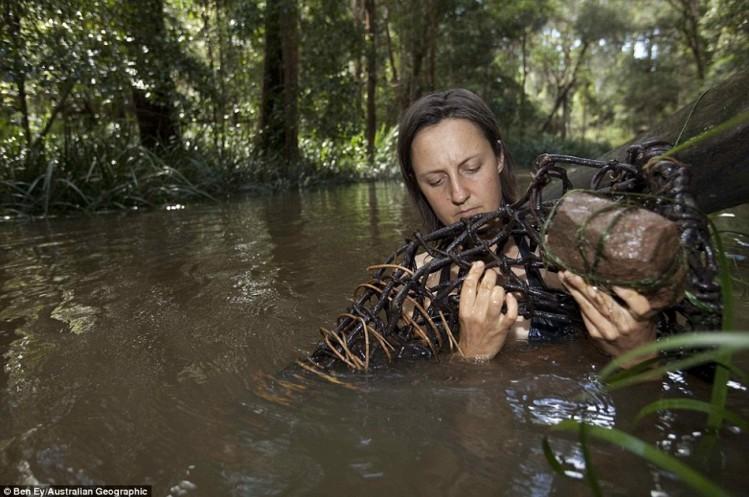 """澳洲女子的""""野人""""生活:以蛇虫鼠蚁为食"""